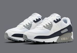 Nike Air Max 90 White Particle Grey Running Shoes CT4352 100 Mens NEW $100.00
