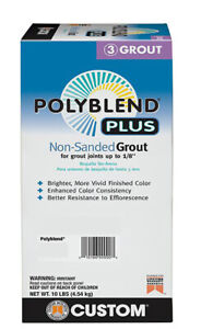 Custom Building Products PolyBlend Plus Non Sanded Grout 10 lbs