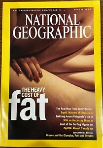 National Geographic August 2004 Fat Squid New Jersey Excellent Condition