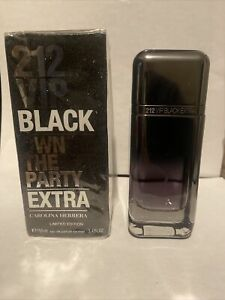 212 VIP BLACK Own The Party Extra For Men EDP Spray 3.4 3.3 oz New In Box
