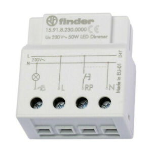 Regulator Dimmer Electronic FINDER Built – IN 15.91 230 V Ca Lamps LED And Inc $136.95