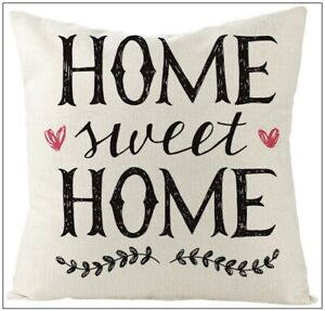 Throw Pillow Covers Home Sweet Home Hearts Home Decor Cushion Sofa Case
