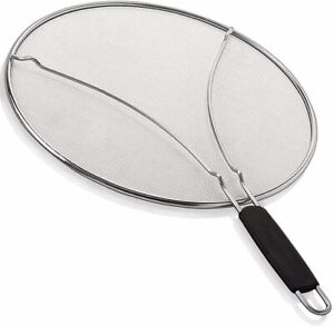 """Splatter Screen for Frying Pan13""""Stainless Steel Grease Guard Stops Hot Oil"""
