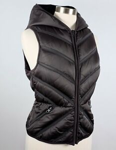 sz M Soulcycle down vest jacket coat padded hooded $79.99