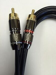 technics 1200 turntable Monster RCA cable W Ground Wire Upgrade mk2 m3d mk5 DJ $22.99
