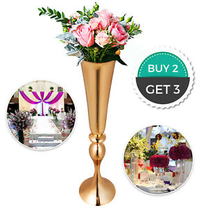 3pc Metal Wedding Flower Table Decor Vase Centerpiece Stand Candle Holder 29.5in $61.99