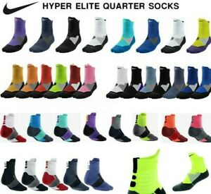 Nike Dry Hyper Elite Cushioned Quarter Basketball Dri Fit Socks $19.00