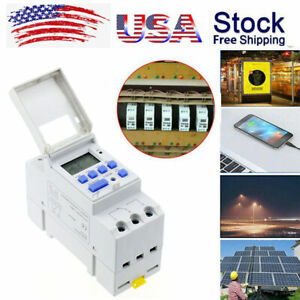 AC 220V 240V 16A LCD Programmable Digital Timer Controller Timer Switch Relay US $13.99