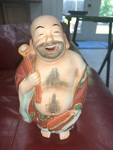 Satsuma Moriage House of Koshu Japanese Figurine Hand Painted Decanter Sake