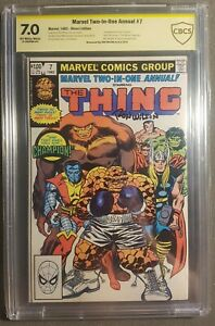 Marvel 2 in 1 Annual #7 Marvel 1st Champion Infinity Gem signed Ron Wilson 7.0 $150.00