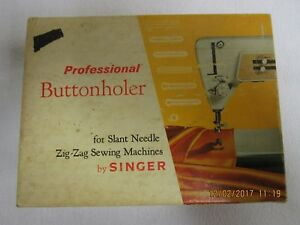 Professional Buttonholer by Singer for Slant Needle ZigZag Sewing Machines $6.90