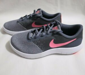 Nike Youth Flex Contact Running Shoes Sneakers Size 6Y 917937 003 Gray Pink $34.99