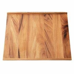 Villa Acacia Reversible Wood Pastry Board and Cutting Board with Lipped Edges...