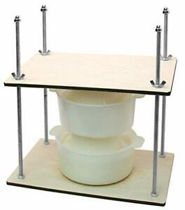 Сheese Making Kit 12 in Metal Guides 13 in Cheese Press 2 Cheese Making mol...
