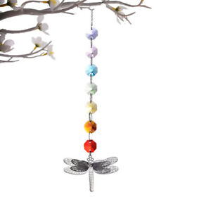 1pc Crystal Colorful Octagonal Dragonfly Hanging Ornament Dragonfly Bead C $11.01