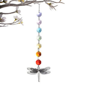 1pc Crystal Colorful Octagonal Dragonfly Hanging Ornament Dragonfly Bead $5.73