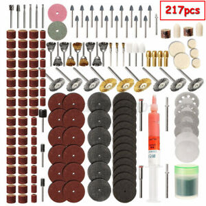 217Pcs Rotary Drill Tool Accessories Bit Set Polishing Kit For Dremel Grinding $15.95