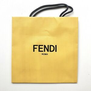 Fendi Roma Shopping Gift Paper Bag Small in Yellow 10.25quot; x 10.25quot; x 4.1quot; $17.99