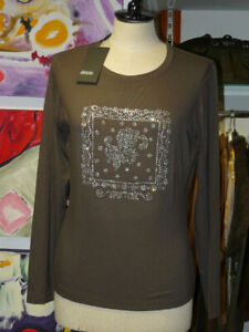 DIANA GALLESI under Jackets Elast. Long Sleeve Size 42 Taupe Discount $57.15