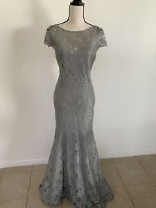 Adrianna Papell Lace Cap Sleeve Full Length Gown $95.00