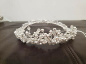 Vintage White Wedding Headpiece Crown $7.99