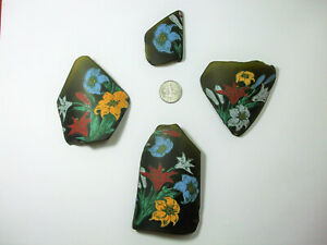 4 Amazing Flowers Cultured Sea Glass Artists Pieces