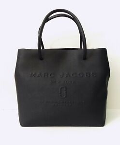 NWT Marc Jacobs Logo East West Leather Tote Black M0015766 $159.95