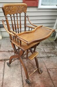Antique Folding High Chair and or Stroller $385.00