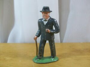 Vintage Lead Figure Man in Suit amp; Hat w Cane # 619 Barclay Manoil