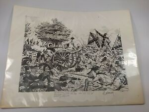 Print Of The Battle Of Gettysburg $10.00