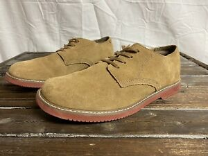 Boys Sperry Top Sider Caspian Brown Suede Oxford Dress Shoes Size 7 $14.99