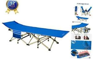Camping cots Oversized Portable Foldable Outdoor Bed with Carry ROYAL BLUE