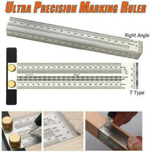 Marking Ruler T Type Right Angle Square Woodworking Scriber Measuring Tool #D $11.86