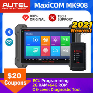 Autel MaxiCOM MK908 BT Automotive FULL Diagnostic Scanner Tool OBD2 ECU Coding $1850.00