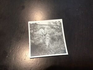 ORIGINAL WWII GI Photo Of Filipino Guerilla Soldier With Full Camouflage