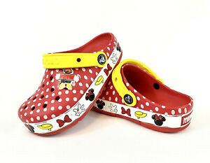 Disney Minnie Mouse Crocs Red Polka Dot Girls Shoes Size 13C $14.00