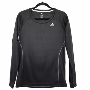 Adidas Climalite Dry Fit Shirt Size Medium Black Long Sleeve Running Tee Runner $16.00