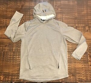 Under Armour Hoodie LARGE Fitted Coldgear Grey $20.00