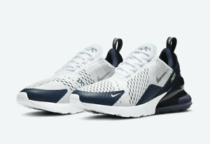 Nike Men's Air Max 270 Shoes NEW AUTHENTIC White Midnight Navy DH0613 100 $149.99