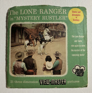 View Master THE LONE RANGER B465 3 Reel Set Booklet 2 $14.00
