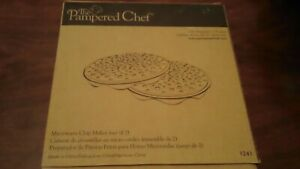 Pampered Chef Chip Maker Microwave Set of 2 USED