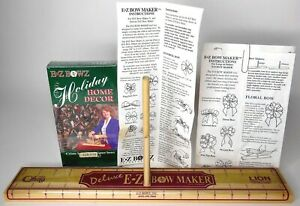 Vintage 1993 Deluxe EZ Bowz Maker Holiday Home Decor VHS Instructions Sealed $24.99