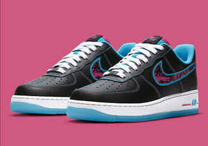 Nike Air Force 1 #x27;07 LV8 Shoes quot;Miami Nightsquot; Black Fireberry DD9183 001 Men#x27;s $139.90