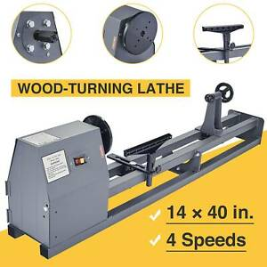 Electric 1 2 HP 14 x 40 Variable Speed Benchtop Wood Lathe Woodturning Lathe
