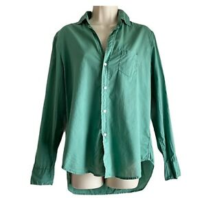 Frank Eileen EILEEN Cotton Voile Relaxed Button Up Shirt Top Spring Sz S $208 $39.00