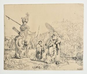 REMBRANDT 1800s Heliogravure Etching print The Baptism of the EUNUCH. $200.00
