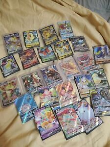 Pokemon Card Lot 100 OFFICIAL TCG Cards Ultra Rare Included GX EX V VMAX $11.49