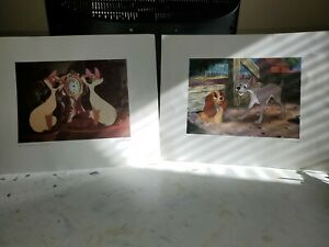 Disney Lithographs Siamese Cats amp; Lady and The Tramp $90.00