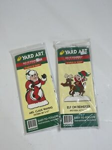 Vintage Yard Art Do It Yourself Simple amp; Easy Christmas Wood Patterns Lot of 2