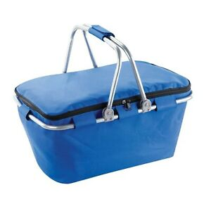 Soft Insulated Picnic Basket Tote Lightweight Collapsible Cooler Bag Blue